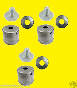 3 Pack Kubota Blade Bolt Beveled Washer Dust Cup Cover Set Zd321 Zd326s Mower