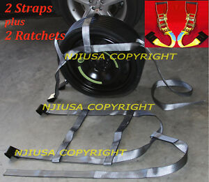 2 Basket Straps 2 Ratchets Kit Adjustable Tow Dolly Demco Wheel Net Flat Hook