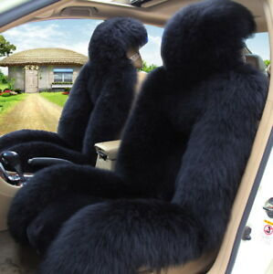 Genuine Australian Pair Sheepskin Fur Car 2 Front Seat Covers Set Universal M12b