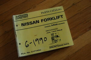 Nissan M02 Forklift Parts Manual Book List Catalog Spare Mo2 1990 Lift Truck
