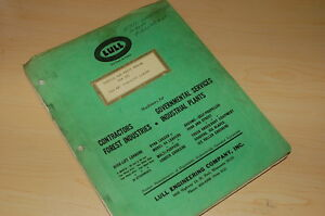 Lull 7c2 40 High Lift Loader Parts Service Repair Owner Manual Book Catalog List