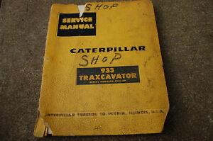 Cat Caterpillar 933 Traxcavator Repair Service Manual Crawler Track Loader Book