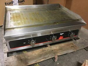 Vollrath 40723 36 Flat Top Gas Countertop Griddle
