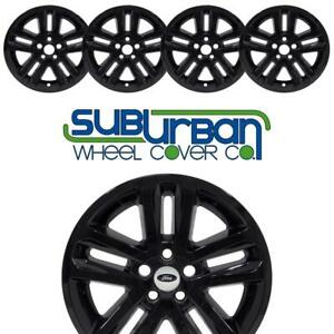 11 17 Ford Explorer 8385gb 18 Alloy Black Wheel Skins Hubcaps Covers Set