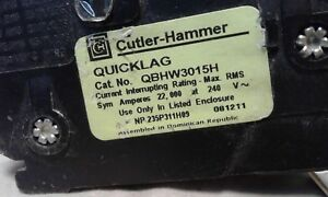 Eaton Cutler Hammer Qbhw3015h 15 Amp Circuit Breaker 120 240v Lot Of 2 Quicklag