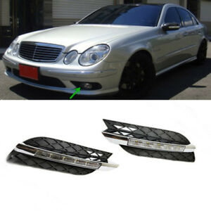 White Led Drl Car Daytime Running Lights Replace For Benz E class 2006 2009