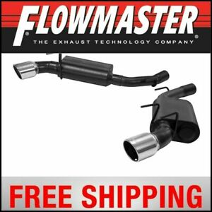 Flowmaster 2010 2013 Camaro Force Ii Axle back System Dual Rear Exit