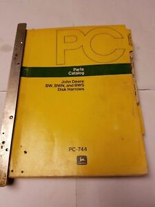 John Deere 13 Various Parts Catalogs Disk Harrows Bw Bwn Wha Jba 110 111 Disk