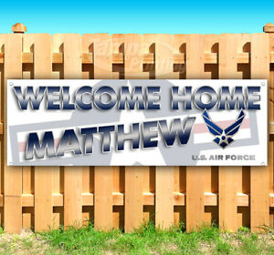 Welcome Home Customize Name Advertising Vinyl Banner Flag Sign Many Sizes Usa