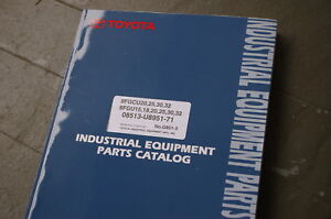 Toyota 8fgcu 20 25 30 32 8fgu 15 18 Forklift Parts Manual Book Lift Truck Spare