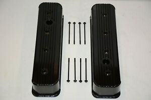 1987 00 Sbc Chevy Black Center Bolt Valve Covers Factory Style 5 0 305 5 7 350