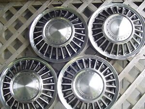1967 67 1968 68 Ford T Bird Thunderbird Hubcaps Wheel Covers Center Caps Fomoco