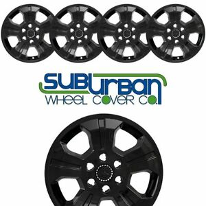 2014 2018 Chevrolet Silverado 1500 Imp 392blk 18 Black Wheel Skins New Set 4
