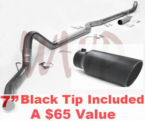 Turbo Back Exhaust System 7 Black Tip For 98 02 Dodge Ram Cummins 5 9l Diesel