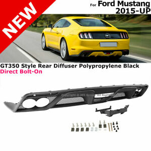 Rear Lower Bumper Diffuser For 2015 2017 Ford Mustang Gt350 Valance Body Kit
