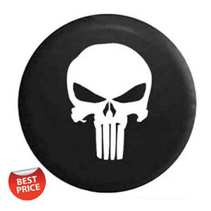 Car Spare Tire Cover 15 Inch Tyre Covers Black Vinyl Hd Skull Logo For All Car