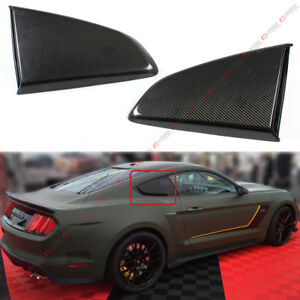 For 15 17 Mustang R Style Carbon Fiber Side Window Quarter Scoop Louver Covers