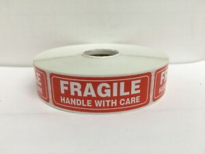 1000 Labels 1x3 Fragile Handle With Care Special Handling Mailing Stickers
