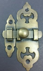 Ornate Antique Style Solid Brass Door Latch Lock Bolt Barn Gate Cabinet X11