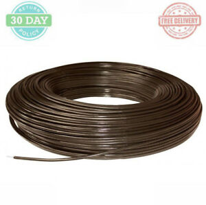 Non electric Horse Fence Wire Heavyduty Brown Safety Coated High Tensile Barrier