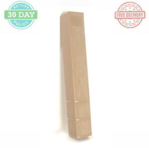 Composite Fence Post Protector Lightweight Square Beige Finish Uv Protected 6