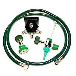 Wall mounted Oxygen Block W 5 Ft Diss Hose 0 15 Lpm Flowmeter Ohmeda Female C
