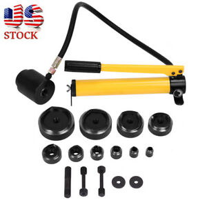 15t Hydraulic Metal Steel Hand Knockout Punch Die Tool Set Hole Puncher case