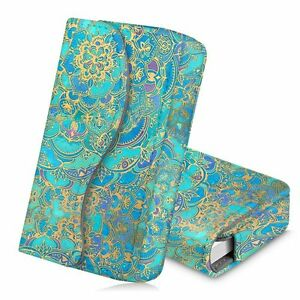 Business Card Holder Name Card Wallet Case Magnetic Closure Shades Of Blue