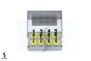 Dental Implant Drill Kit 8 Pcs Set External Irrigation Surgical Bur Holder Ce