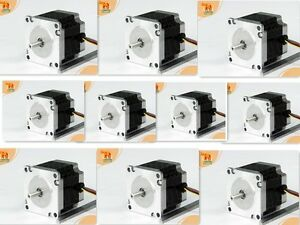 10pcs Nema23 Stepper Motor 57bygh627 287oz in 3 0a 1 4 shaft 3d Printer Milling