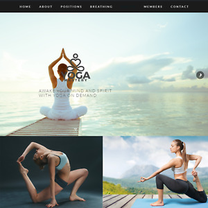 Yoga Fitness Internet Website Business For Sale Mens Womens Workout Training