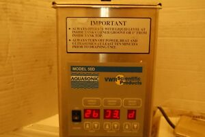 Vwr Scientific Aquasonic Water Bath 50d 50 D Digital Dental Ss Sonic Ultrasonic