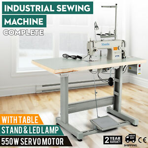 Sewing Machine With Table servo Motor stand led Lamp Stitcher Industrial 550w