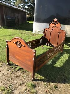 Most Unusual Victorian Walnut Youth Bed High Style