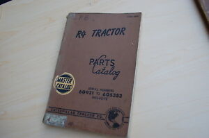 Caterpillar R4 Tractor Crawler Dozer Parts Manual Book Catalog Vintage 6g List