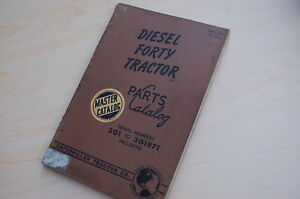 Caterpillar Forty Tractor Crawler Dozer Parts Manual Book Catalog Vintage 40 3g
