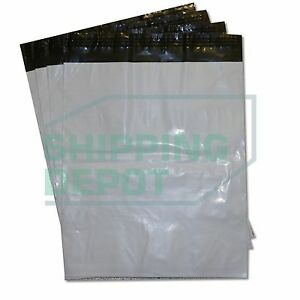 500 14x17 White Poly Mailers Bag Self Seal Shipping 14 X 17 2 Mil