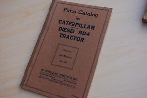 Caterpillar Rd4 Tractor Crawler Dozer Parts Manual Book Catalog Vintage Diesel
