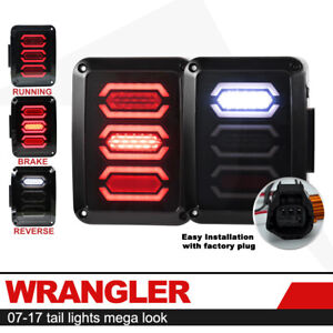 Tail Lights Led Rear Lamps Reverse Brake Turn Signal Smoke For Jeep Wrangler Jk