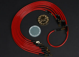 Hks Red Wiring Grounding Kit For 10 13 Genesis Coupe Turbo 48004 kb001
