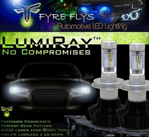 Lumiray Led Headlights Kit For 2016 2017 Civic High Low Beams Amber Smd Fogs