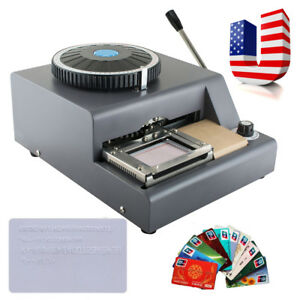 72 character Manual Stamping Machine Pvc id credit Card Embosser Code Printer Us
