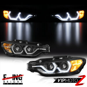 F32 M3 Style For 12 15 Bmw F30 4dr 328i 335i Dual Led Halo Projector Headlight