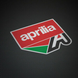 2x Aprilia A Sticker Logo Vinyl Decal Classic Italy Race Moto Car Truck Window