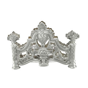 6 In Sterling Silver Vintage Flower Urns Openwork Ornate Napkin Holder