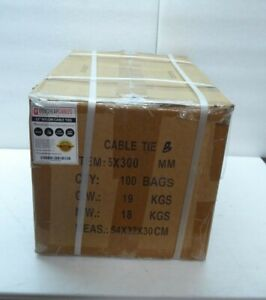 12 Nylon Zip Ties Cable Black 4 7mm 50lb 10 000 Pcs