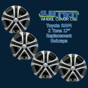 2013 2018 Toyota Rav4 Le Style 518 17sb 17 Replacement Hubcaps New Set 4