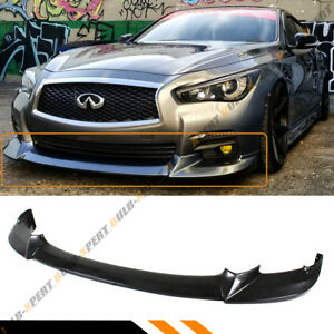 For 2014 2017 Infiniti Q50 Base Premium Jdm Nis Type Front Bumper Lip Splitter