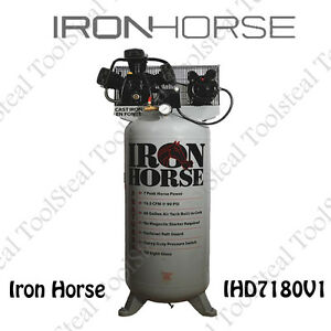 Iron Horse 7 hp 80 gallon Single Stage Air Compressor 208 230v 1 phase New