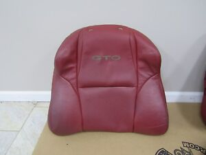 2004 2006 Gto Front Seat Upper Leather Cover Red Rh Passenger F18 1